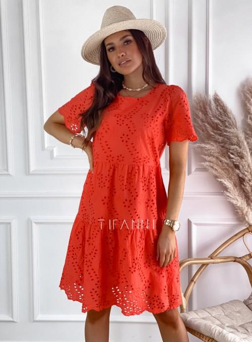 Sukienka Tina orange 5