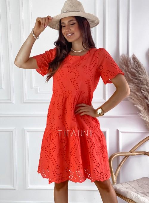 Sukienka Tina orange 6