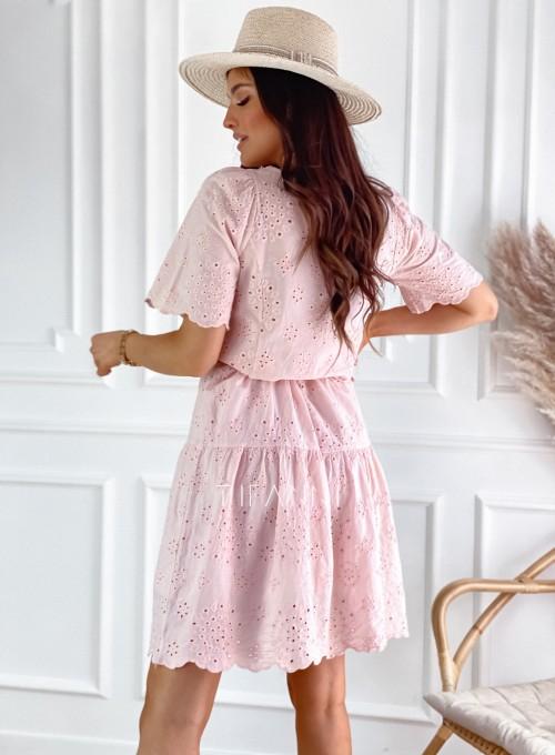 Sukienka Tina pudrowa 3