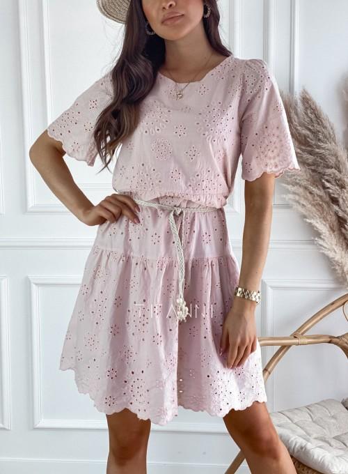Sukienka Tina pudrowa 1
