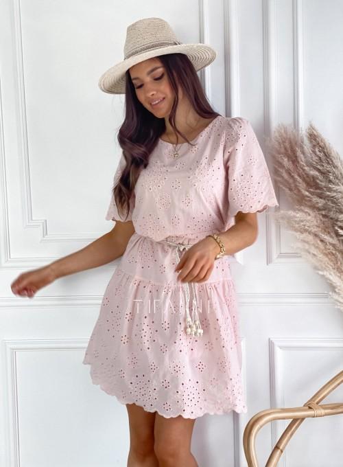 Sukienka Tina pudrowa 2