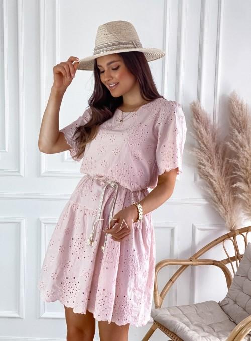 Sukienka Tina pudrowa 5