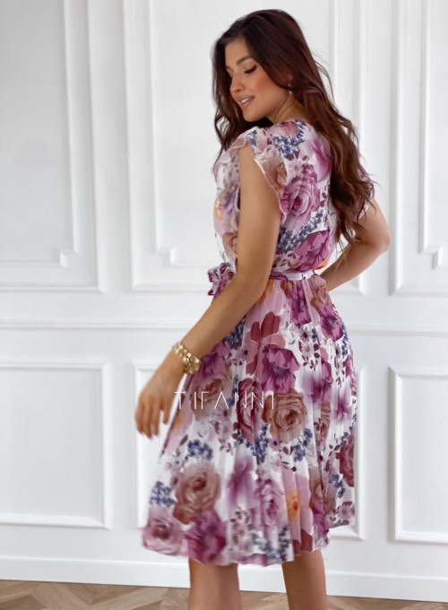 Plisowana kwiatowa sukienka Valeria II 3