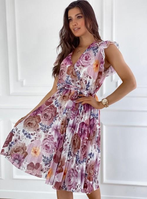 Plisowana kwiatowa sukienka Valeria II 4