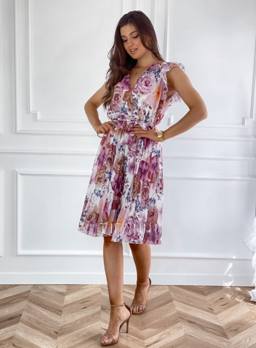 Plisowana kwiatowa sukienka Valeria II 6