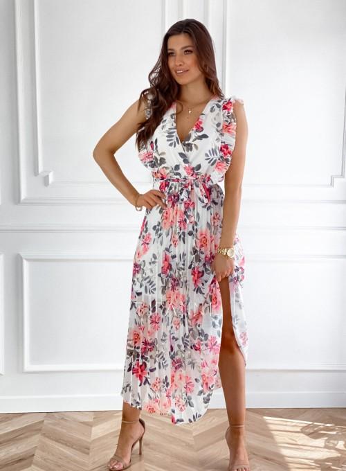 Długa plisowana sukienka Debra kwiatki II 4