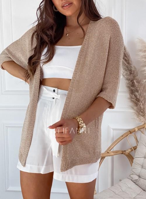 Złoty sweter kardigan Kori 1