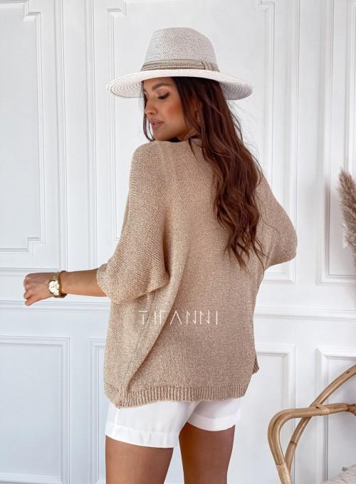 Złoty sweter kardigan Kori 2