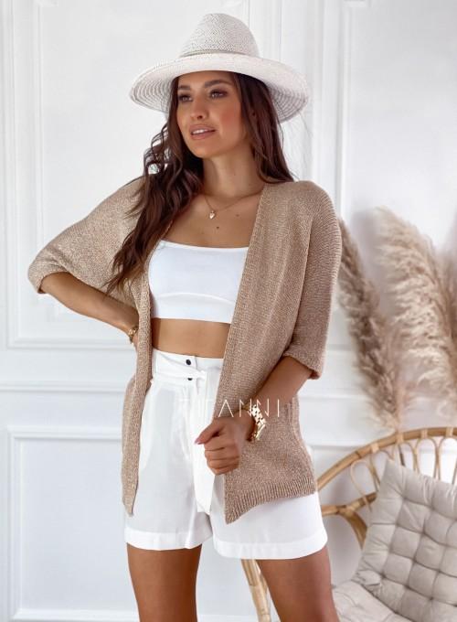 Złoty sweter kardigan Kori 4