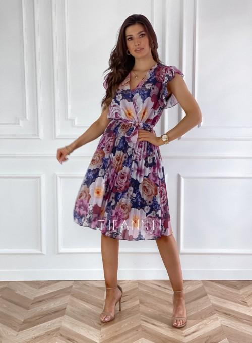 Plisowana kwiatowa sukienka Valeria III 3