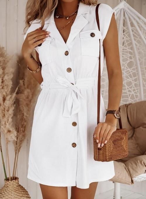 Lniana sukienka Lenia biała