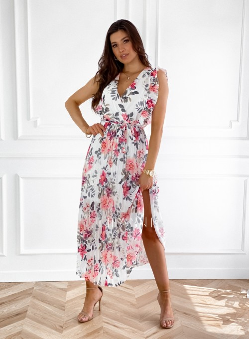 Długa plisowana sukienka Debra kwiatki II