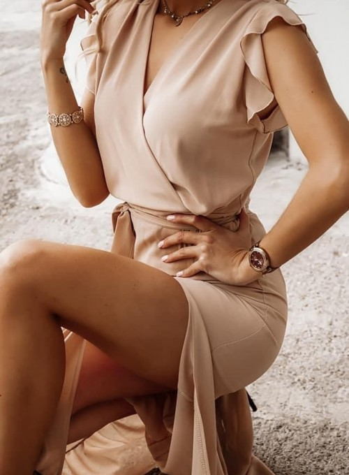 Sukienka Glise beige 1