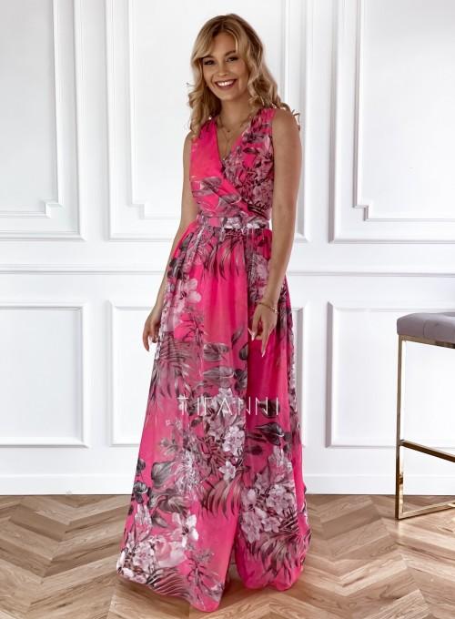 Sukienka Paradiso Maxi pink 1