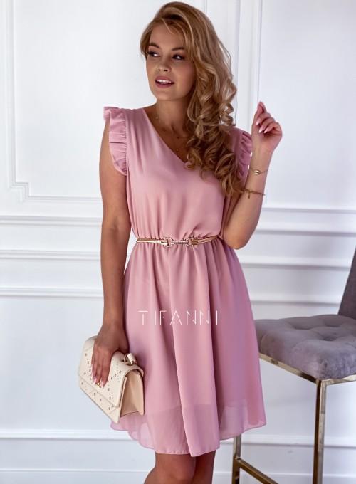 Sukienka Beki pudrowa