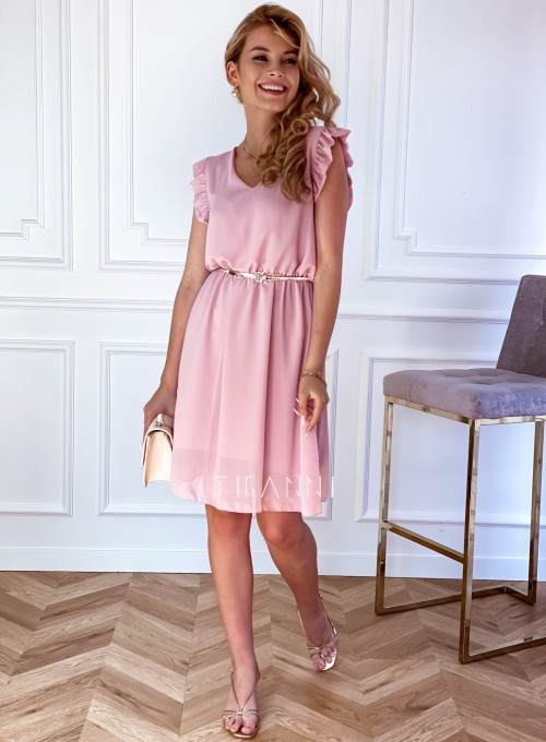 Sukienka Beki pudrowa 1