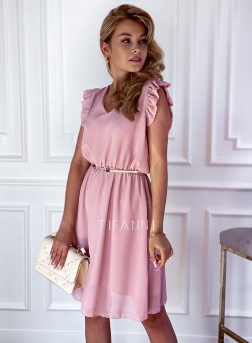 Sukienka Beki pudrowa 3