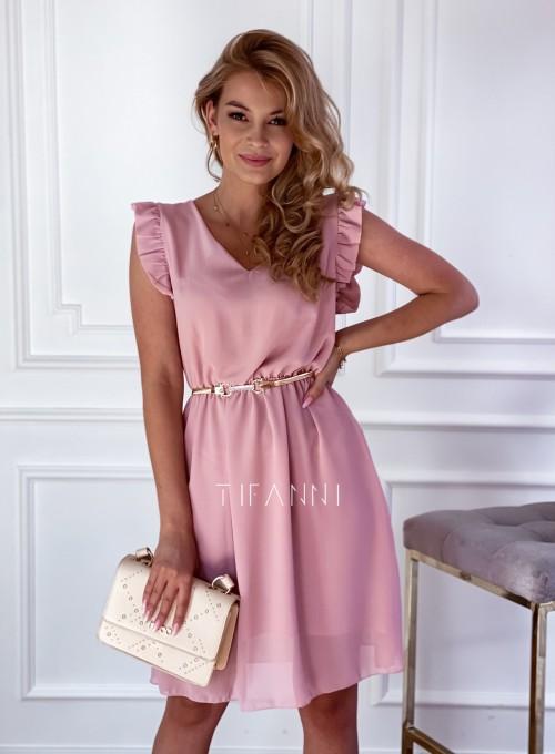 Sukienka Beki pudrowa 4