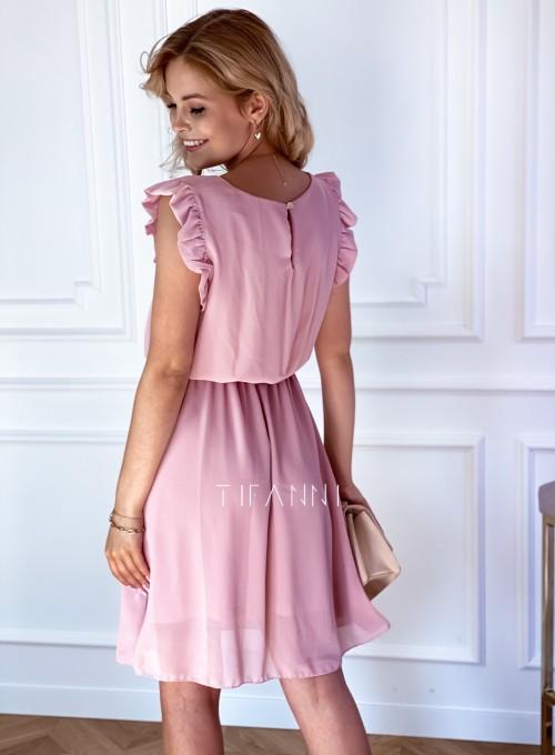 Sukienka Beki pudrowa 2