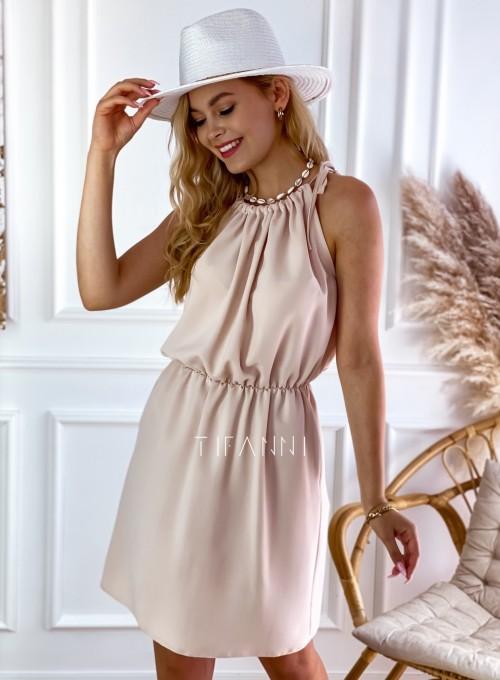 Sukienka Natali beżowa