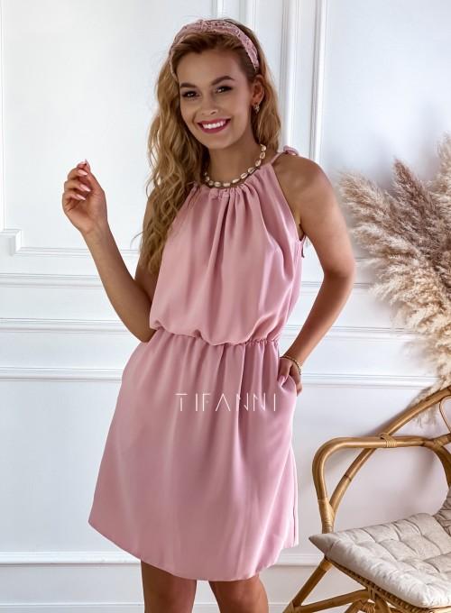 Sukienka Natali pudrowa