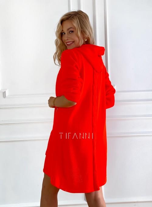 Sweter kardigan Nobi orange 1