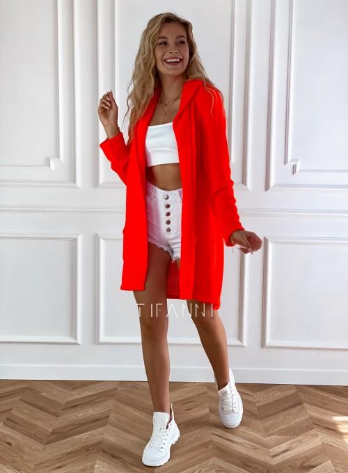 Sweter kardigan Nobi orange 3