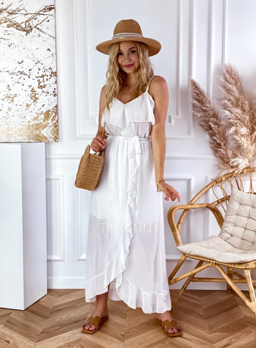 Długa sukienka Vegas white 3
