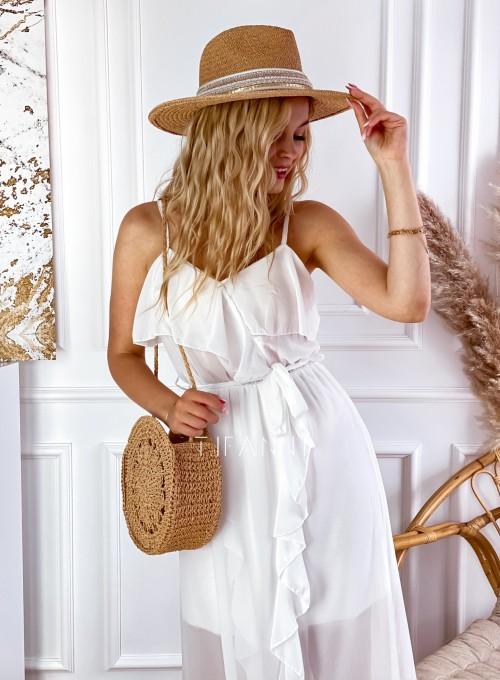 Długa sukienka Vegas white 1
