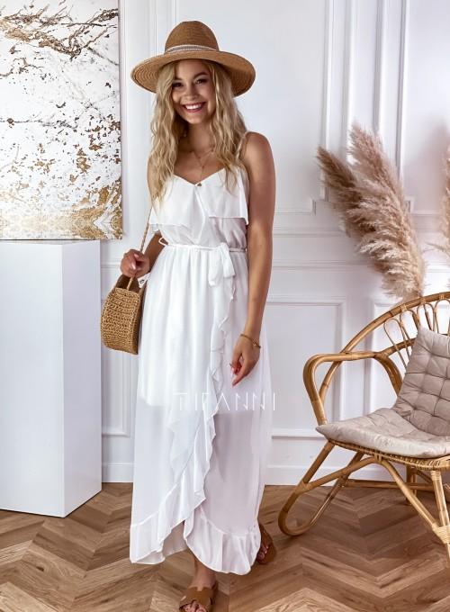 Długa sukienka Vegas white 5