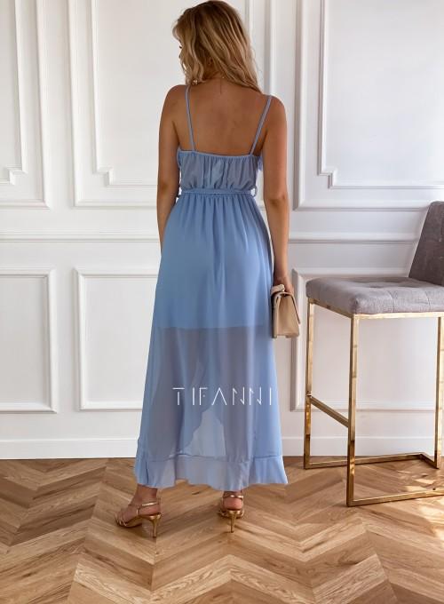 Długa sukienka Vegas blue 2