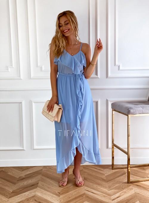 Długa sukienka Vegas blue 3