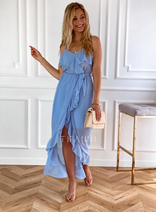 Długa sukienka Vegas blue 5