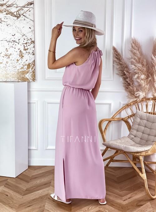 Sukienka Natali maxi pudrowa 4