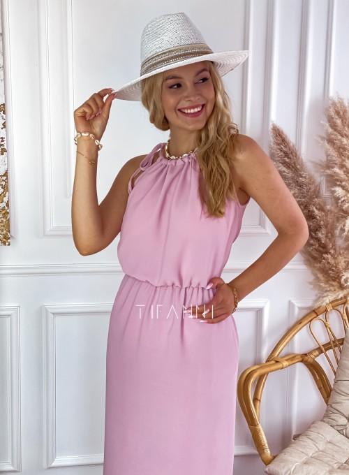 Sukienka Natali maxi pudrowa 1