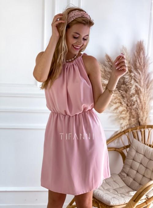 Sukienka Natali pudrowa 2
