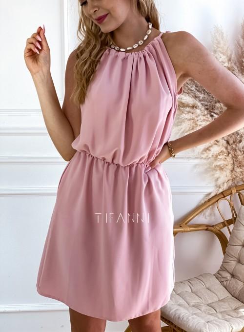 Sukienka Natali pudrowa 3