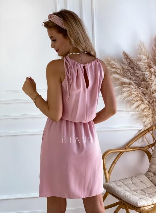 Sukienka Natali pudrowa 4