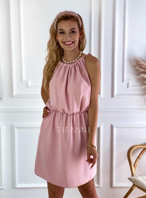 Sukienka Natali pudrowa 5