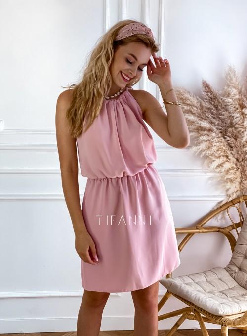 Sukienka Natali pudrowa 1