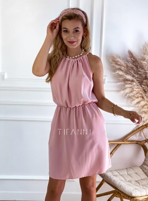 Sukienka Natali pudrowa 6