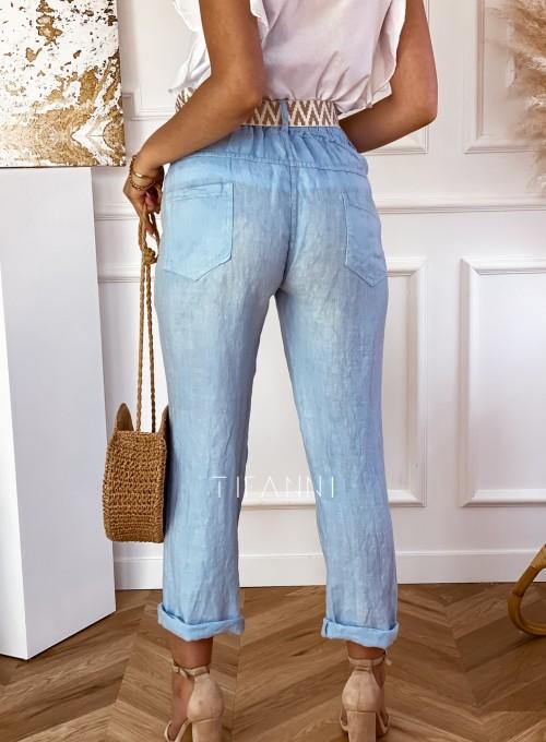 Spodnie Queenie błękitne 2