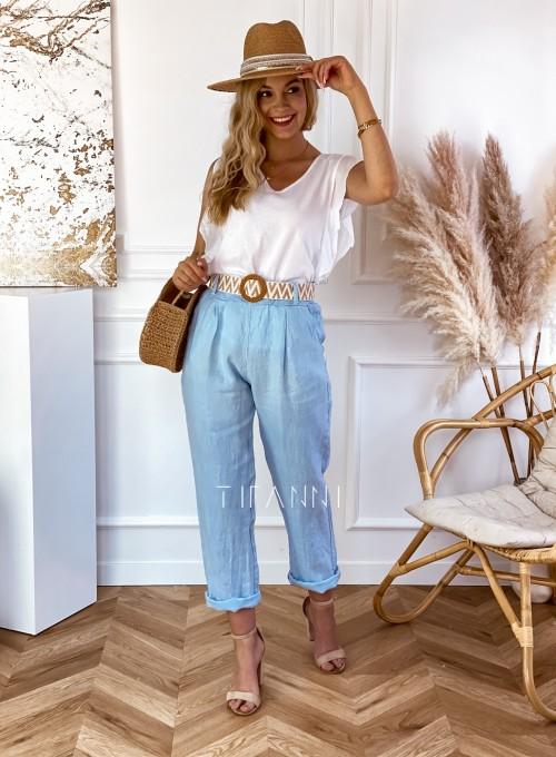 Spodnie Queenie błękitne 1
