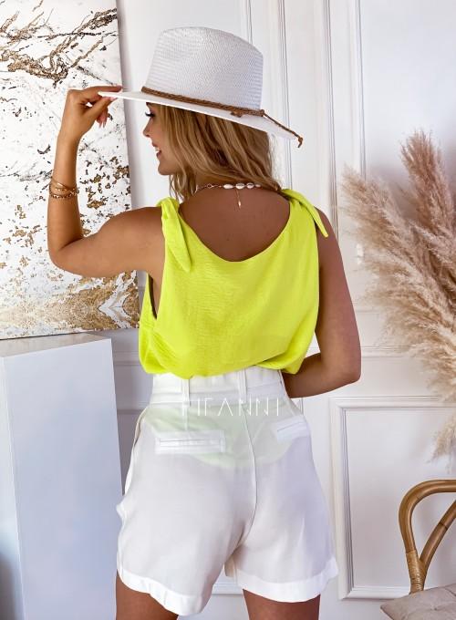 Bluzka wiązana na ramiączkach Bali neon 2