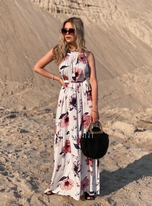 Sukienka maxi Carlo white 2