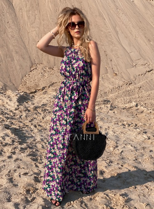 Sukienka maxi Carlo kwiatki