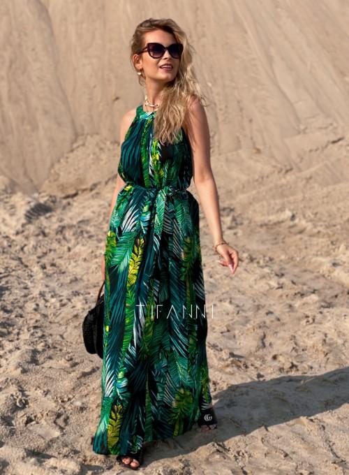 Sukienka maxi Carlo palms