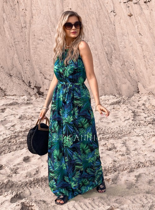 Sukienka maxi Carlo palms II