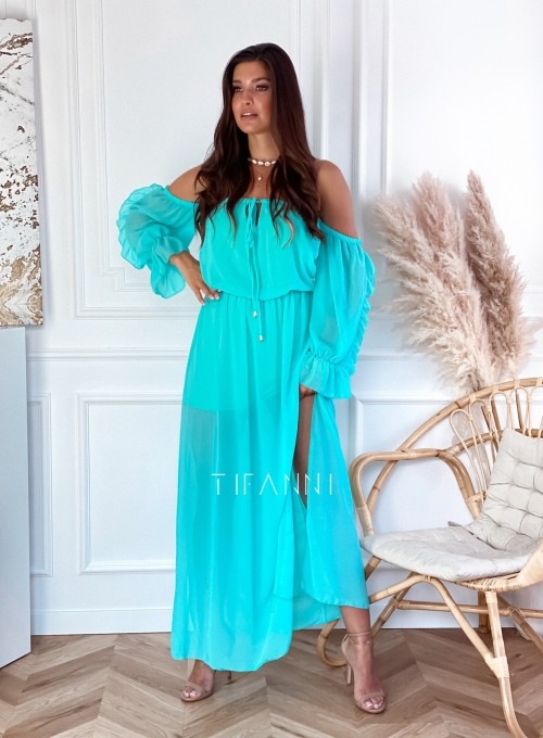 Sukienka hiszpanka Real miętowa