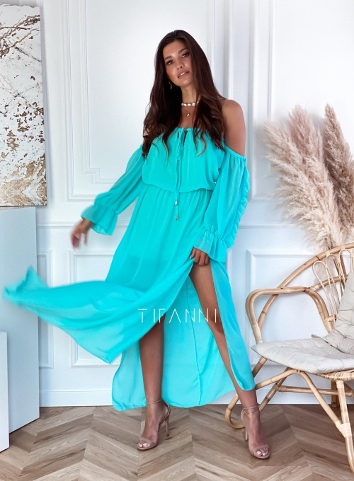 Sukienka hiszpanka Real miętowa 6